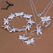earring necklace sets cheap images Wholesale silver plated jewelry set cheap bridal party sets simple jpg