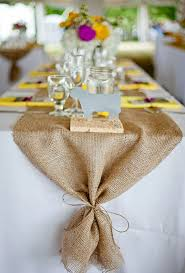 24 wide table runners rolls of burlap fabric jute ribbon and table toppers