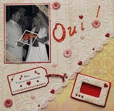 scrapbooking mariage exemple scrapbooking mariage
