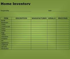simple and easy to use home inventory checklist template vatansun