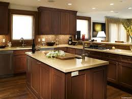 Light Quartz Countertop With Dark Cabinets Kitchens Pinterest - Medium brown kitchen cabinets