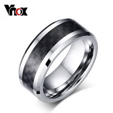 aliexpress buy vnox 2016 new wedding rings for women vnox 100 tungsten carbide ring for men black carbon fiber mens
