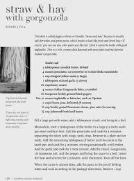 an ina garten recipe u2013 straw and hay with gorgonzola so does