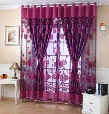 Blackout Purple Curtains 2018 Quality Fashion Luxury Curtain For Living Room Tulle 100