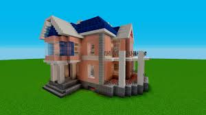 minecraft tutorial how to build a simple house stained clay
