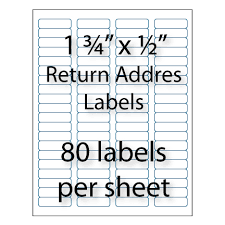 colored return address labels 1 3 4 x 1 2 avery 5267 compatible