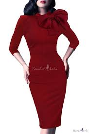 women u0027s 1950s retro 3 4 sleeve bow cocktail party evening dress