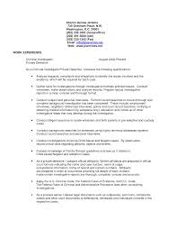 exle of professional resume criminal justice resume templates yun56 co detective and