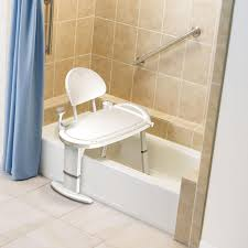 Toilet To Tub Sliding Transfer Bench Amazon Com Moen Non Slip Adjustable Transfer Bench Glacier White