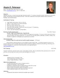 Sample Corporate Resume by Sample Objective Full Time Corporate Flight Attendant Job Position