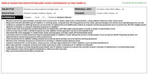 Resume Duties Examples by Resumes Samples For Jobs
