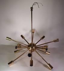Sputnik Chandelier Knock Off Vintage Modernist Brass Sputnik Chandelier Ceiling Light 16 Arms