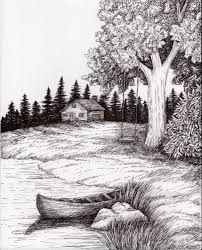 gallery easy pencil drawing pictures of nature drawings art