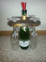 wine bottle and glasses holder 3 steps with pictures