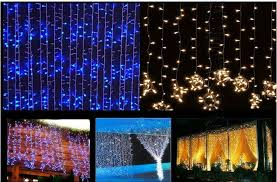 6mx3m curtain style led icicle lights 600 leds decoration lights