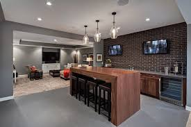 basement bar ideas with built in wood cabinets home bar