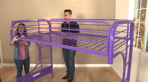 High Sleeper Beds With Sofa by Eclipse Twin Full Futon Bunk Bed Assembly Video Youtube