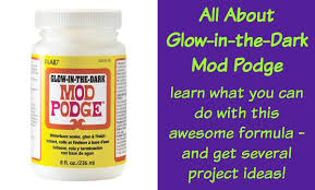 all about glow in the dark mod podge mod podge rocks