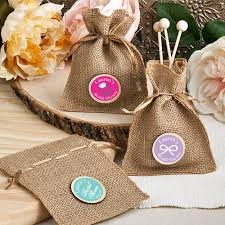 personalized bridal shower favors personalized bridal shower burlap favor bag bridal shower favors