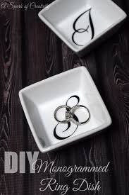 monogrammed dishes diy monogrammed ring dish a spark of creativity