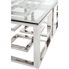 contemporary square glass coffee table coffee table mercer stainless steel silver square glass coffee table