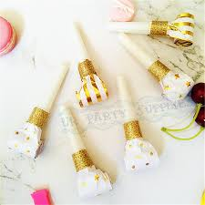 new years party blowers aliexpress buy 18pcs foil gold party horns metallic noise