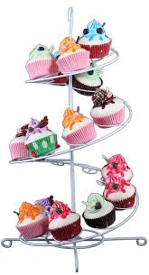 cup cake stands white cupcake spiral stand holder for up to 18