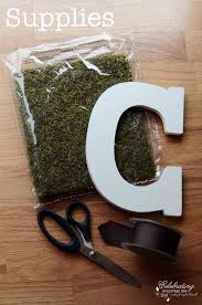 diy moss covered letter tutorial celebrating everyday life with