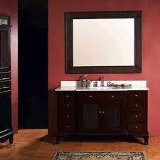 bathroom dark brown stained mahogany wood wall vanity cabinet