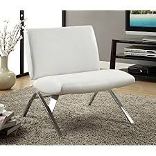 White Accent Chair Kingsbury White Leather Lounge Accent Chair Kitchen
