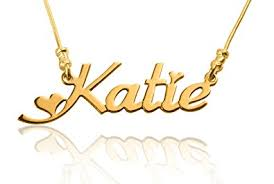customized name necklace 24k gold plated customized name necklace font