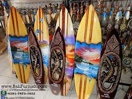 2 surfboard crafts bali indonesia wooden surfing boards ornaments