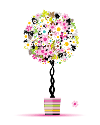 colorful floral tree design vector material 01 welovesolo