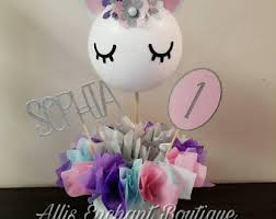 Decorate Table For Birthday Party Unicorn Centerpiece Etsy