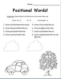 positional words assessment can change the words to other