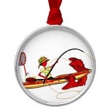 kayak fishing ornaments keepsake ornaments zazzle