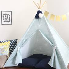 kids teepee tent light blue and white dandelion wishes u2013 the