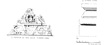 file sketch of roof and lower base gop temple gujarat india png