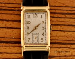 hamilton gilman men u0027s modern deco design wristwatch in solid 14k