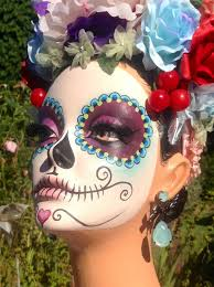 Halloween Makeup Dia De Los Muertos Reserved For M Dia De Los Muertos Day Of The Dead By Darlindesign
