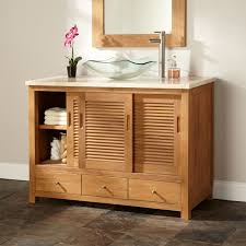 Bathroom Vanity Pull Out Shelves by Bathroom Reclaimed Wood Bathroom Vanity For Access And Storage