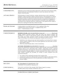 resume exles objective general purpose financial reports free actuary resume exle resume pinterest resume exles