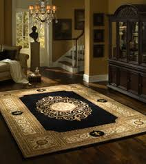 Shop Area Rugs Shop Area Rugs Square Black Gold Calligraphy Pattern Glamorous