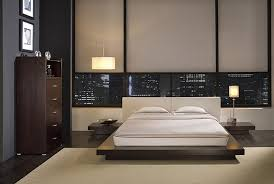 low profile bed apartment bedroom design idea featured tall dresser with open