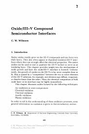 Electrical Engineering Internship Resume Sample by Oxide Iii V Compound Semiconductor Interfaces Springer