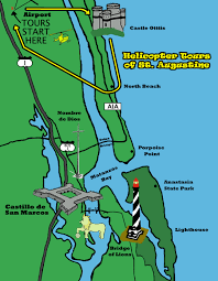 Florida Map Of Beaches by Old City Helicopters St Augustine North Beach Tour