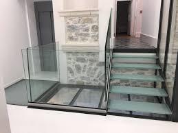 escalier garde corps verre escalier garde corps et passerelle metallique avec plancher en