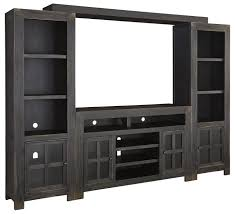 entertainment wall unit w large tv stand bridge and piers by
