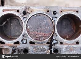 nonworking old non working engine with rusty pistons u2014 stock photo