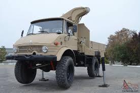 benz other mercedes benz unimog 416 hiab crane truck